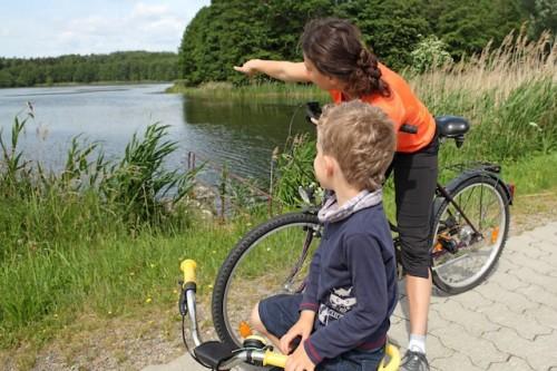 Weil es kaum Steigungen gibt, schaffen auch die jüngsten Radfahrer rund um Angermünde schon beachtliche Strecken. Foto: djd/Tourismusverein Angermünde e.V./R. Mundzeck