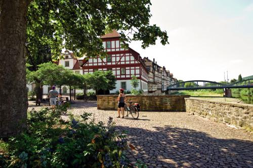 Das Marstallgebäude beim Landgrafenschloss in Rotenburg an der Fulda wurde 1603 errichtet. Foto: djd/Tourist-Information Rotenburg a.d.Fulda