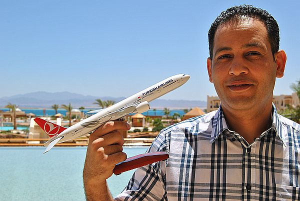 Mit der Turkish Airlines reist man sehr gut zur Soma Bay