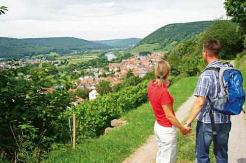 Wanderer finden im Spessart-Mainland gut ausgebaute und markierte Fern- und Rundwanderwege vor. (Foto: epr/Tourismusverband Spessart-Mainland/Andreas Hub)
