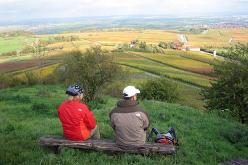 Blick vom Michaelsberg: Schöne Aussichten gehören beim Wandern in der Ferienregion Kraichgau-Stromberg dazu. Foto: djd/Kraichgau-Stromberg Tourismus e.V.
