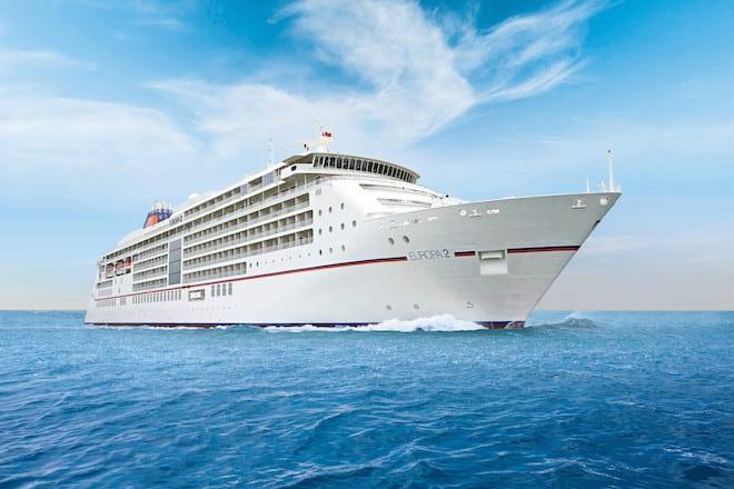 Hapag-Lloyd Kreuzfahrten, MS EUROPA 2, Schiff in Fahrt  Foto: Hapag-Lloyd