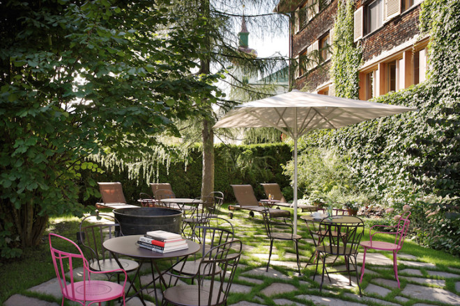 Eine Wohlfühloase: Der Garten des Hotel-Gasthof Krone Foto: Hotel-Gasthof Krone