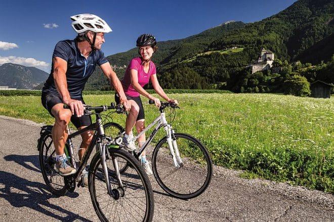 Egal ob auf dem Rad oder zu Fuß - Sterzing und Gossensass haben einiges zu bieten Bildnachweis: TV Sterzing/Gossensass (Klaus Peterlin/allesfoto.com)