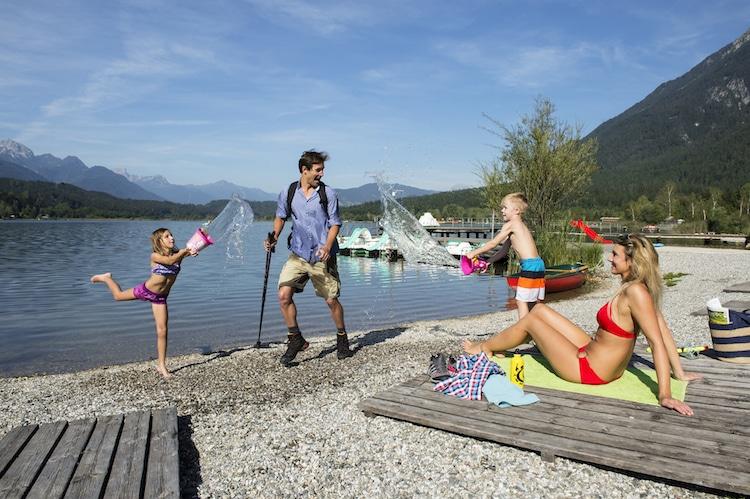 Pure Entspannung: Der Pressegger See bietet Erholung und Programm für die ganze Familie. (Foto: epr/©nassfeld.at)