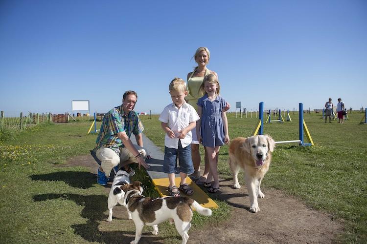 Leinen los! Im Fun-Agility-Park im Dornumerland dürfen Hunde auch ohne Leine spielen und toben. © Tourismus Gemeinde Dornum/Martin Stöver