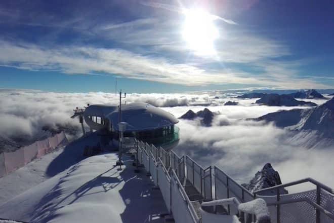 Bild: Cafè 3.440 oberhalb des Pitztaler Gletschers am 20.9.2016 (c) Mario Dobler