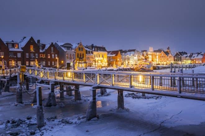 Winter im Husumer Hafen Foto: Oliver Franke
