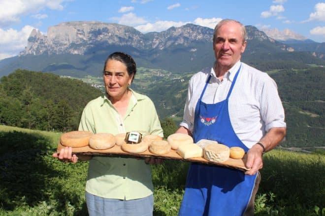 Martha und Josef Lobis Inhaber des Erschbaumer Hofs in Unterinn Südtirol