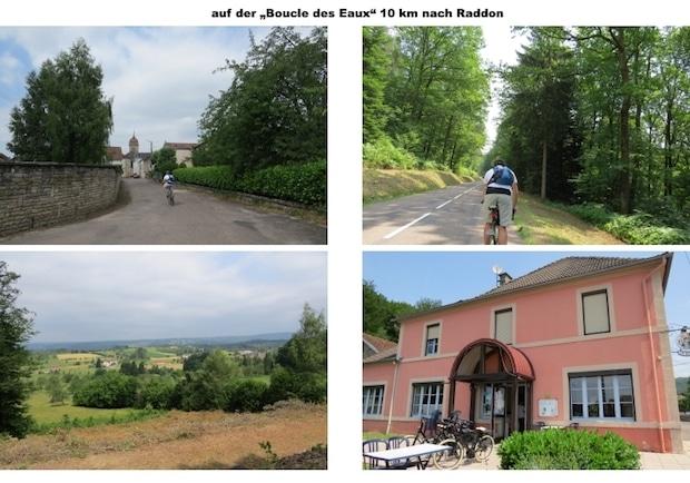 Radtour in der Region Bourgogne-Franche-Comté