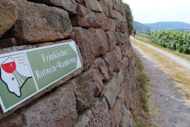 Fränkische Rotwein Wanderweg von Erlenbach nach Miltenberg.