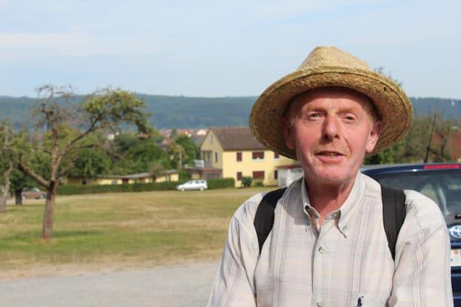 Weinberg Führer am fränkischen Rotwein Wanderweg: Reinhold Hillerich.