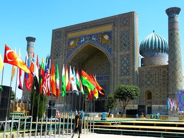 Die Altstadt von Samarkand, zweitgrößte Stadt von Usbekistan, gehört zum Weltkulturerbe