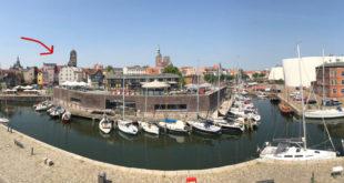 Hafen in Stralsund - St. Jakobi Kulturkirche