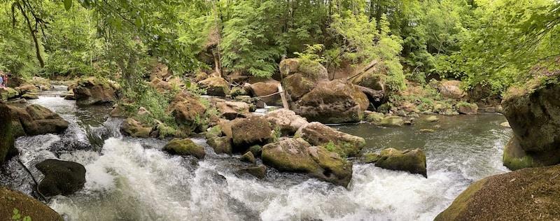 Der wilde Fluss Prün in der Teufelsschlucht