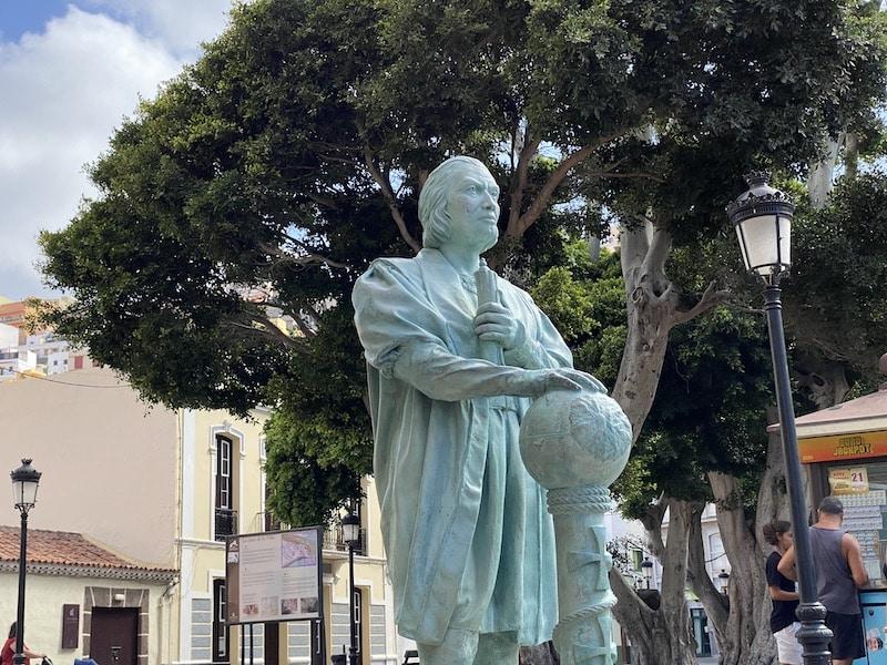 Christoph Kolumbus Statue in St. Sebastian auf La Gomera