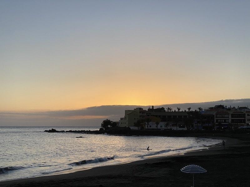 Sonnenuntergang im Valle Gran Rey auf La Gomera