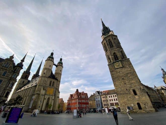 Halle, die Stadt der fünf Türme in Sachsen Anhalt