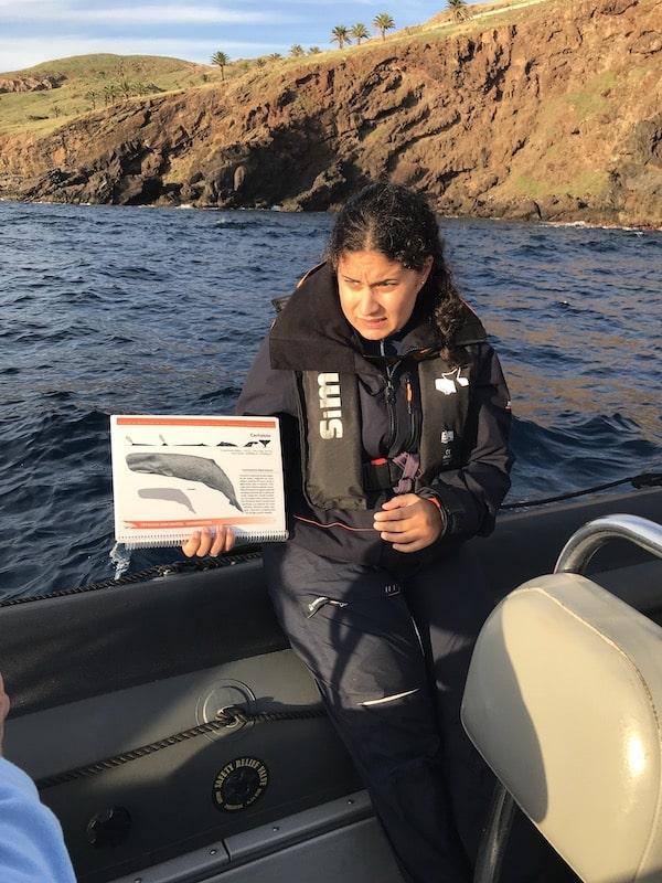 Meeresbiologin Patrizia bei ihrer Arbeit auf Madeira